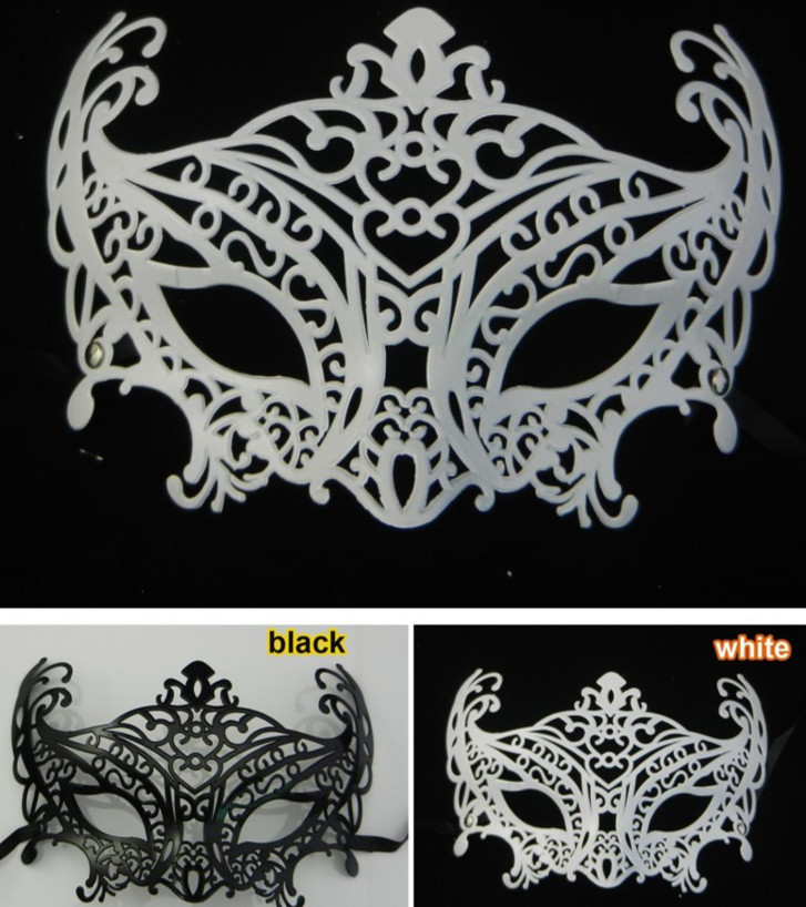 black white fox mask venetian masquerade ball decoration wedding party prop christmas gift mardi gras costume free shipping
