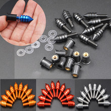 ZXMT 10pcs 5mm Motorcycle Windshield Windscreen Spike Bolt Kit Well Nuts Bolts Washer  Red Black Gold Blue Silvery