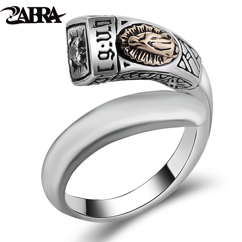 ZABRA Solid 925 Sterling Silver White Zircon Virgin Mary Sculpture Open Ring Women Men Vintage Gift for Christian Ring Jewelry lt 925 sterling silver open cuff bangle for women men virgin mary white zircon high polished bracelets vintage jewelry for male