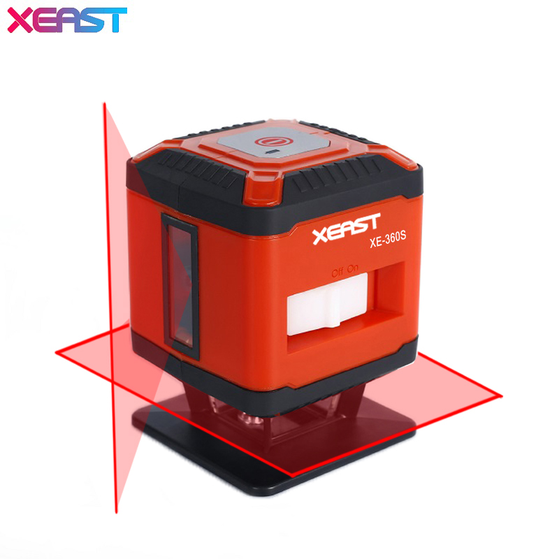 XEAST XE-360S 5Lines Laser Level Self-Leveling 360 Horizontal And Vertical Cross Super Powerful Red Laser Beam Line xeast 12 line laser level 360 vertical and horizontal self leveling cross line 3d laser level red beam better than fukuda
