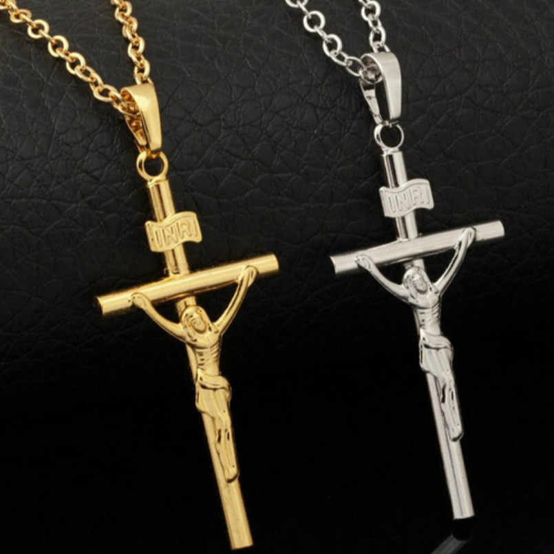 Korean Fashion Necklace Plated Gold Cross Necklace, Christian Fashion Necklace Necklace Women Christmas Gifts