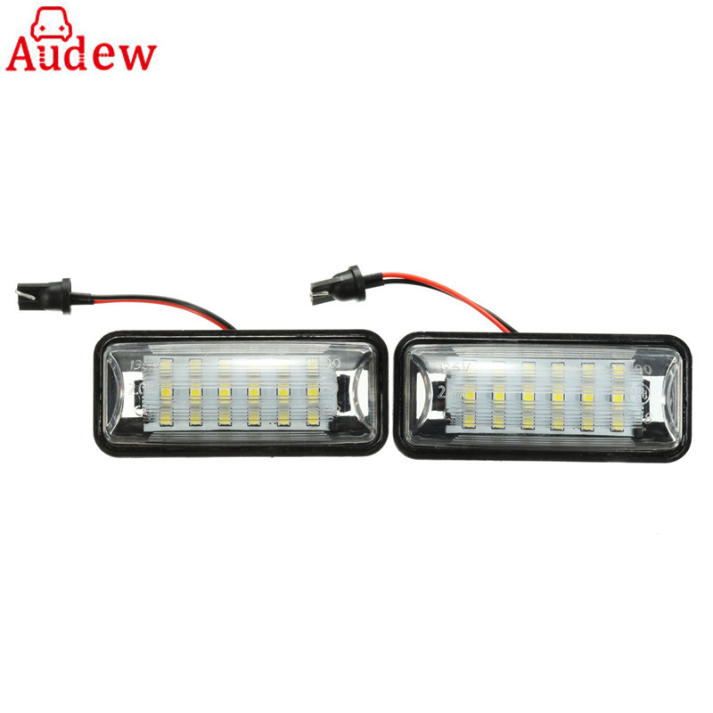 2Pcs LED Tail Light License Plate  Light Number Lamps 18 LED For Subaru/BRZ/Legacy/WRX/STI Impreza/XV/Crosstrek epman intercooler y pipe hose kit for subaru wrx sti gdb ggb 2 0 00 07 ver 7 9 3pcs ep sbt007