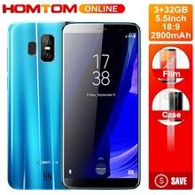 Лучшие HOMTOM S7 5,5 дюймов 18:9 ips полный Дисплей смартфон 13MP двойной камеры заднего Quad core 3 ГБ Оперативная память 32 ГБ встроенная память мобильного телефона отпечатков пальцев