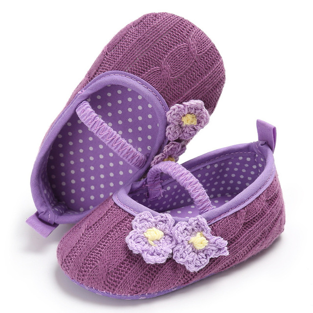 f633e356972b4 Raise Young Summer Autumn Yarn Baby Girl Princess Shoes Soft Soles Non-slip  Flower Toddler