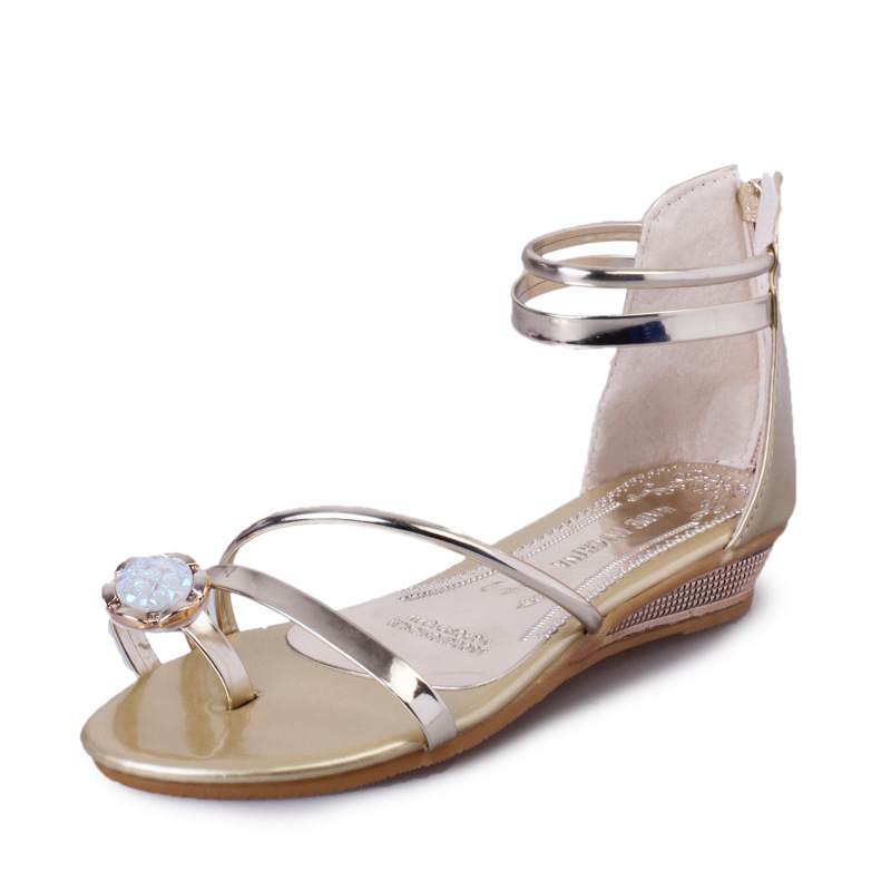 Women Sandals 2017 Summer Shoes Woman Flips Flops Wedges Gladiator Fashion Crystal Comfortable Female Slides Ladies Casual Shoes women sandals 2017 summer shoes woman wedges fashion gladiator platform female slides ladies casual shoes flat comfortable