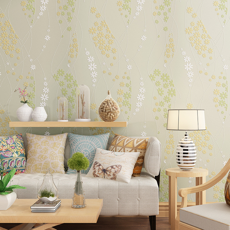 beibehang pastoral flowers Wallpaper for Walls 3 d Vintage Non Woven Wallpaper Rolls Wall Paper for Bedroom living room flooring children s room wallpaper for walls 3 d stereo embossed cartoon cat non woven wallpaper cute baby room girl bedroom wall paper