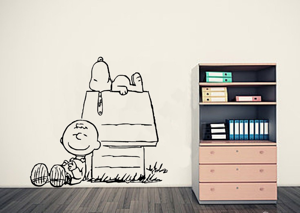 Detail Feedback Questions About Charlie Brown Peanut Wall Art Sticker Baby Decals Mural Stickers Nersery Home Decor Vinilos Paredes Wallpaper
