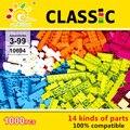 Nueva colorful 1000 unids básica bloques pequeños 14 piezas creativo diy kids niña niño juguetes educativos compatible lepin ladrillos de construcción