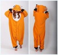 New Animal Fox Jumpsuit Cosplay Pajamas Onesie Women Costume One Piece Adult Pyjamas Sleepwear For Women