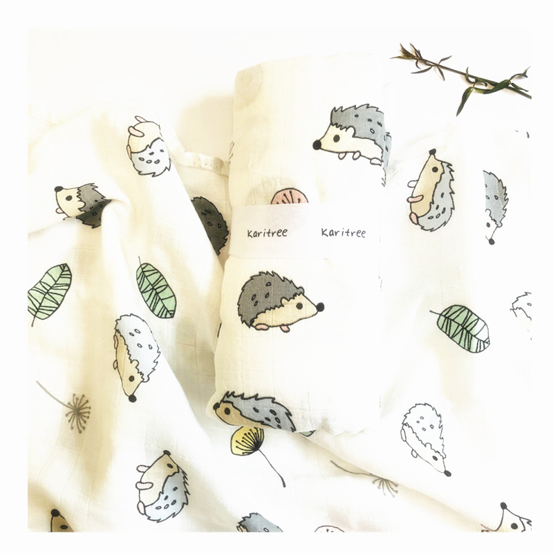 Rabbit 70% Bamboo Baby Swaddle  Blankets Wraps Cotton Baby Muslin Blankets Newborn Big Diaper Muslin Quilt
