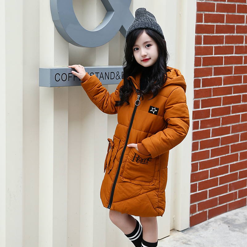 Girls Jacket 2017 Winter Jacket For Girls Coat Kids Warm Hooded Outerwear Long Coat Children Jacket Girls Clothes