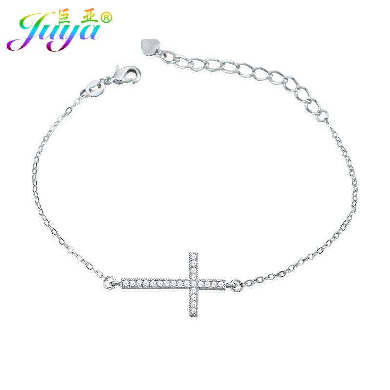 US $1 97 26% OFF|2018 New Fashion Handmade Religious Jewelry Micro Pave  Zircon Cross Charm Bracelets For Women Men Christian Jewelry Bracelets-in