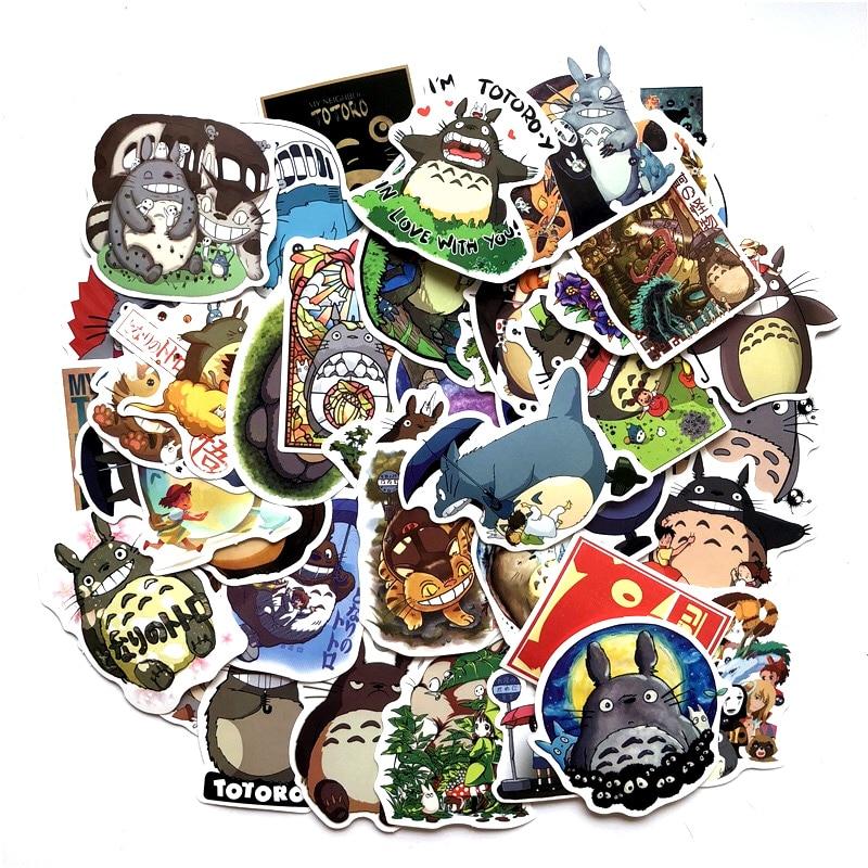 50 Pcs/Lot Japanese Movie My Neighbor Totoro Cute Stationery Stickers For Car Laptop Notebook  Luggage Decal Fridge Skateboard50 Pcs/Lot Japanese Movie My Neighbor Totoro Cute Stationery Stickers For Car Laptop Notebook  Luggage Decal Fridge Skateboard