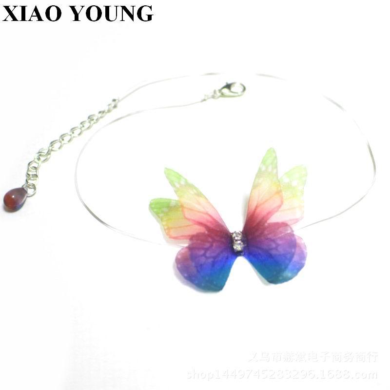 Nevidljivi šareni leptir linija elastičnosti Choker ogrlica za žene modni nakit slatki poklon novi dolazak