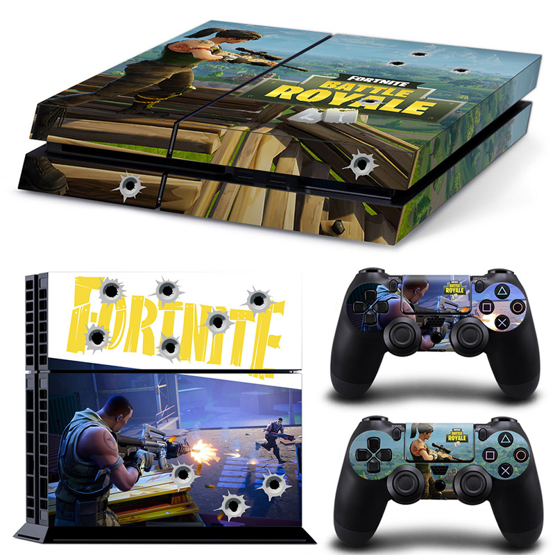 Game Fortnite Battle Royale PS4 Skin Sticker Decal For Sony PlayStation 4 Console and 2 Controllers PS4 Skins Sticker Vinyl