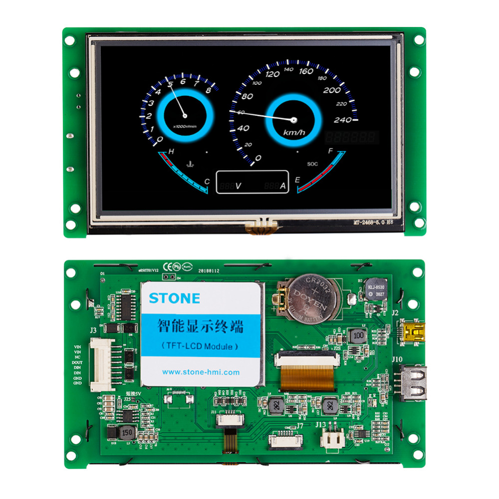 5 Inch TFT LCD Controller Board With LED Backlight Display