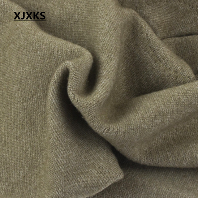 XJXKS Casual 100% Wool Knitted Men's Leggings Elasticity Autumn And Winter Warm M-XXL Comfortable Men Pants 3 Colors 5