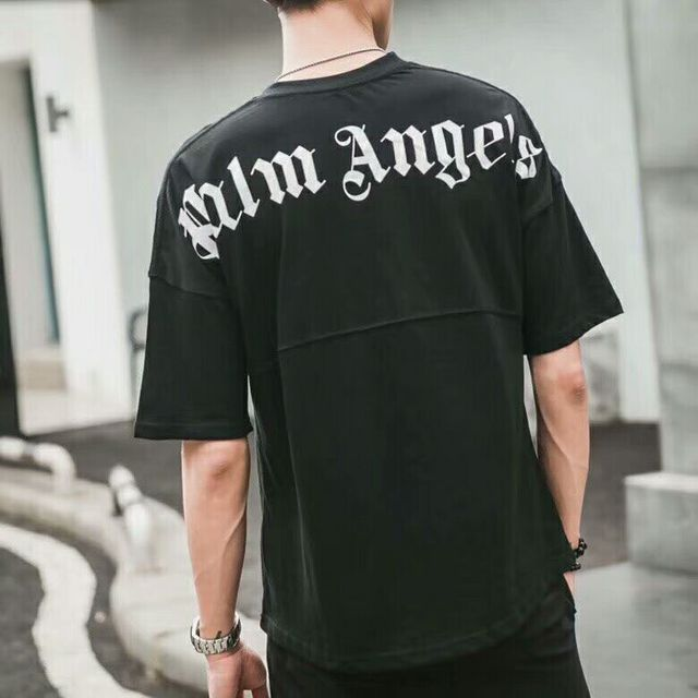 0bc9cf1c 2018SS Palm Angels Letter printing Men Women t shirt Hip Hop Palm Angels  Clothing Fashion Shoulder