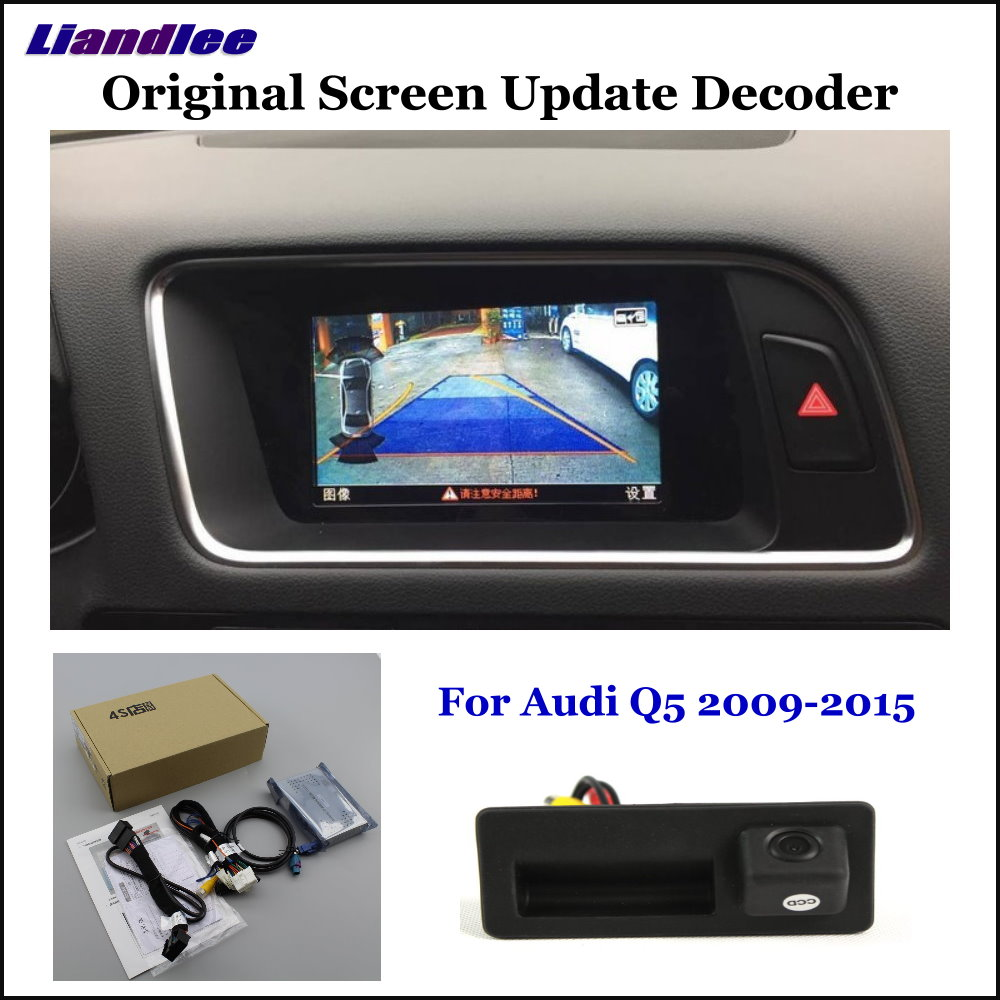 Liandlee Car Original Screen Update System For Audi Q5 8R High Rear Reverse Parking Camera Digital
