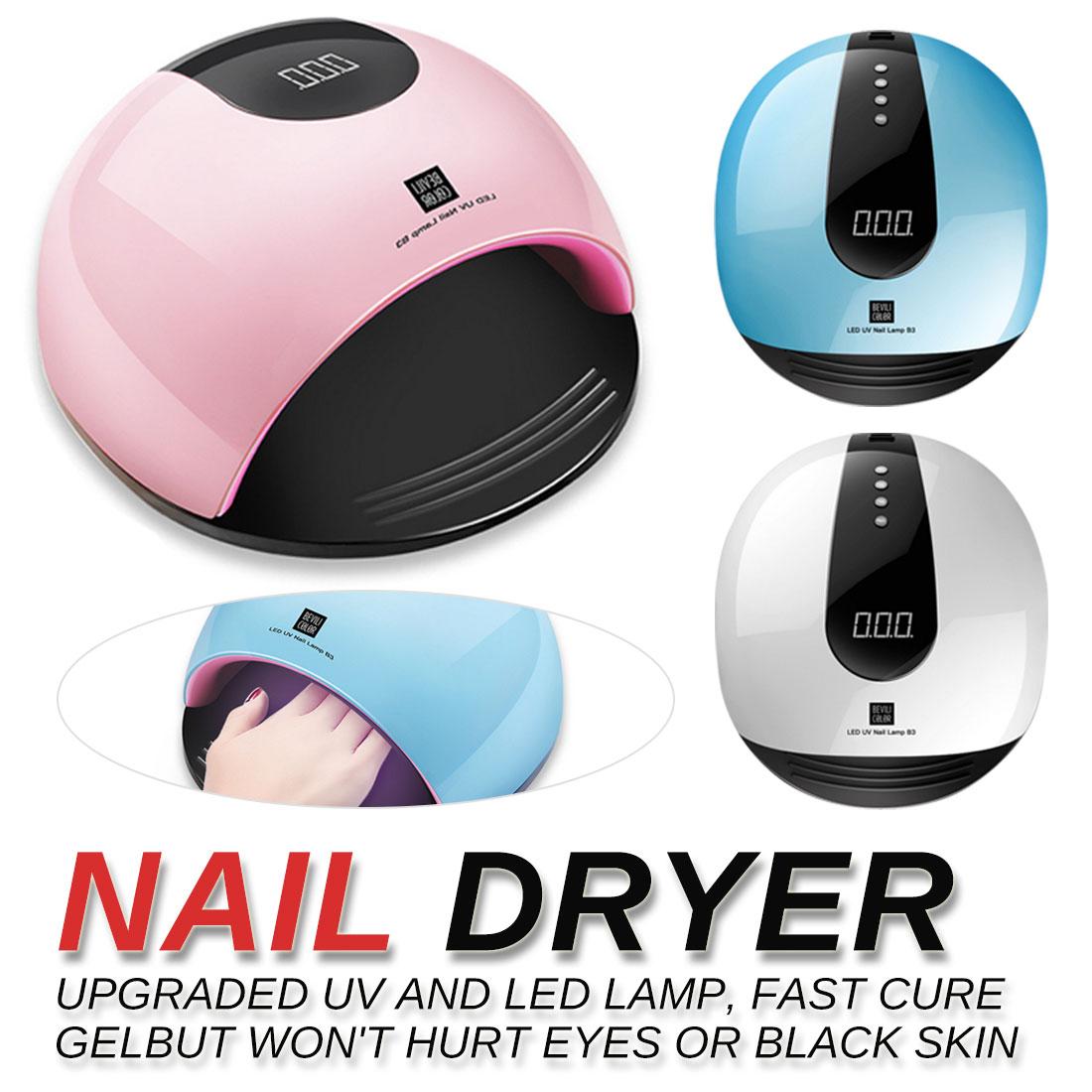 Bleu tous les Gels vernis à ongles ongles USB lampe pour manucure LCD affichage séchage Art outils sèche ongles pour ongles LED lampe UV
