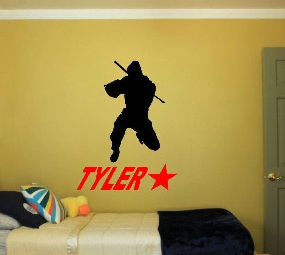 American Ninja Warrior & custom Name decal. Kids Bedroom Wall Art Decor Decal