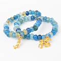 10 Pcs Pack Natural Beaded Stone Bracelet For Fashion Jewelry 7 Colors