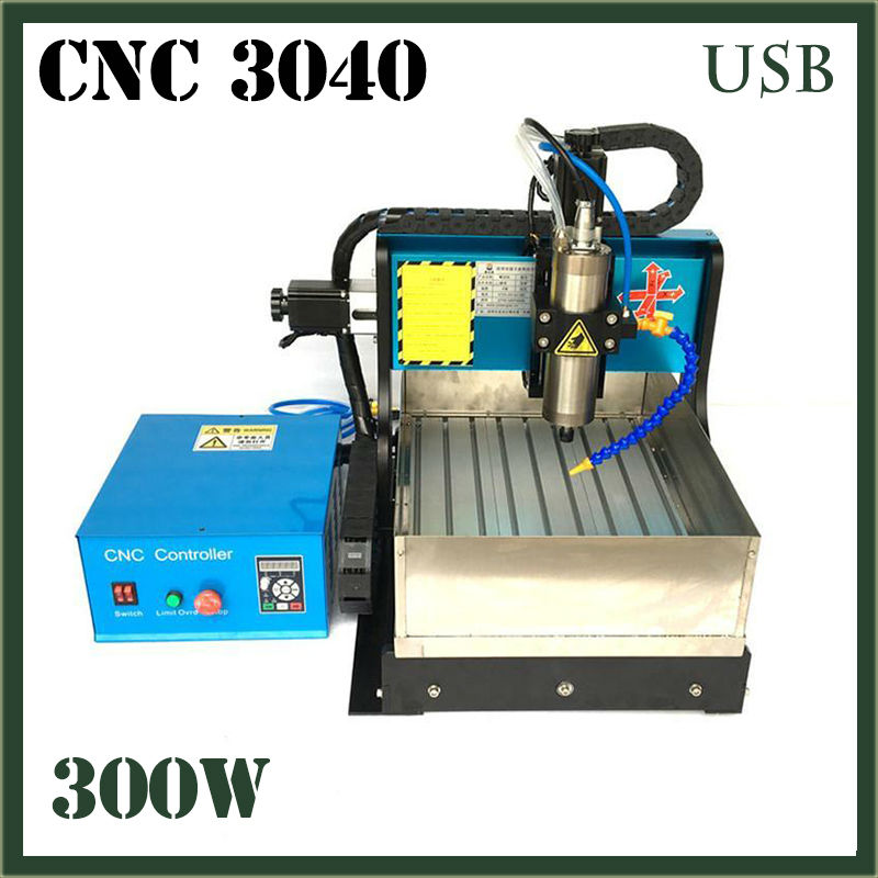 JFT CNC 3040 Router 3 Axis 300W Mini Router With USB 2.0 Port With Water Tank Wood Ball Screw Engraving Milling Carving Machine  jft cnc router 3040 600w 4 axis with usb 2 0 port high precision mini jewelry cnc router wood engraving drilling milling machine