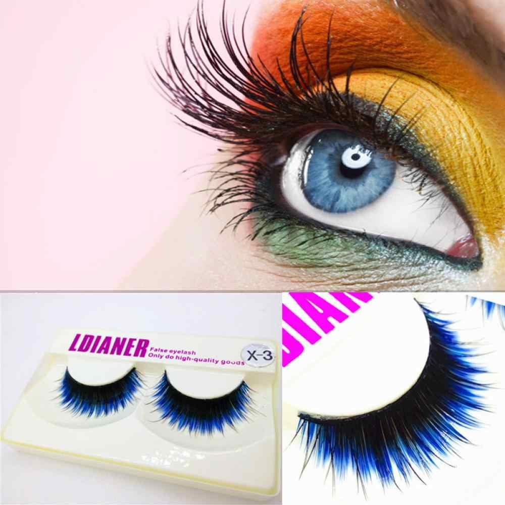 2c1daed39fb ... New Arrival 1Pair Unique Design Fake Eyelashes Women Beauty Fashion  Long Blue Black False Eyelashes Beautiful ...