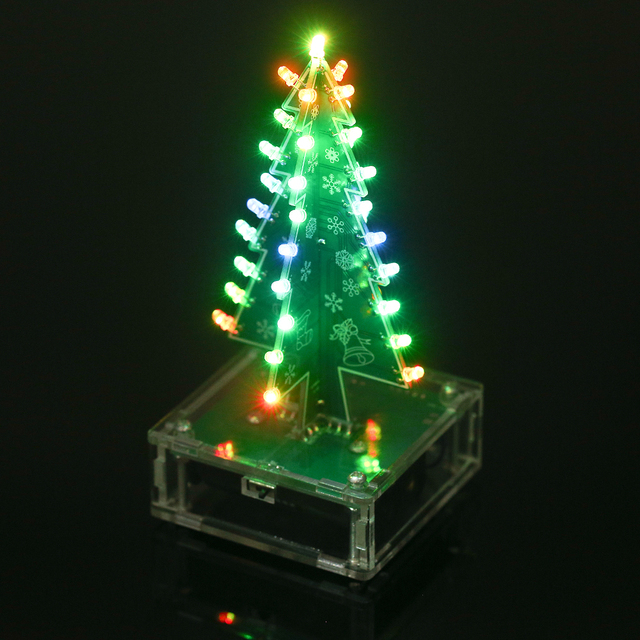 Diy Colorful Easy Making Led Light Acrylic Christmas Tree With Music Electronic Learning Kit Module For