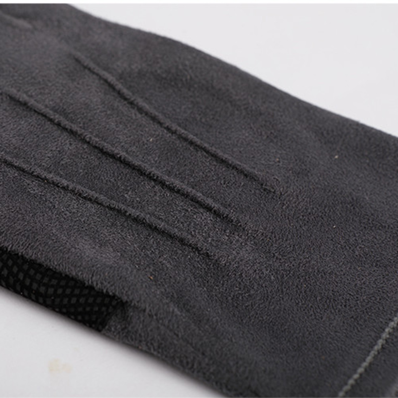 2018 Autumn And Winter New Thickening Imitation Suede Unisex Exposed Two Fingers Non Slip Driving Gloves Half Finger SZ043 5 in Men 39 s Gloves from Apparel Accessories