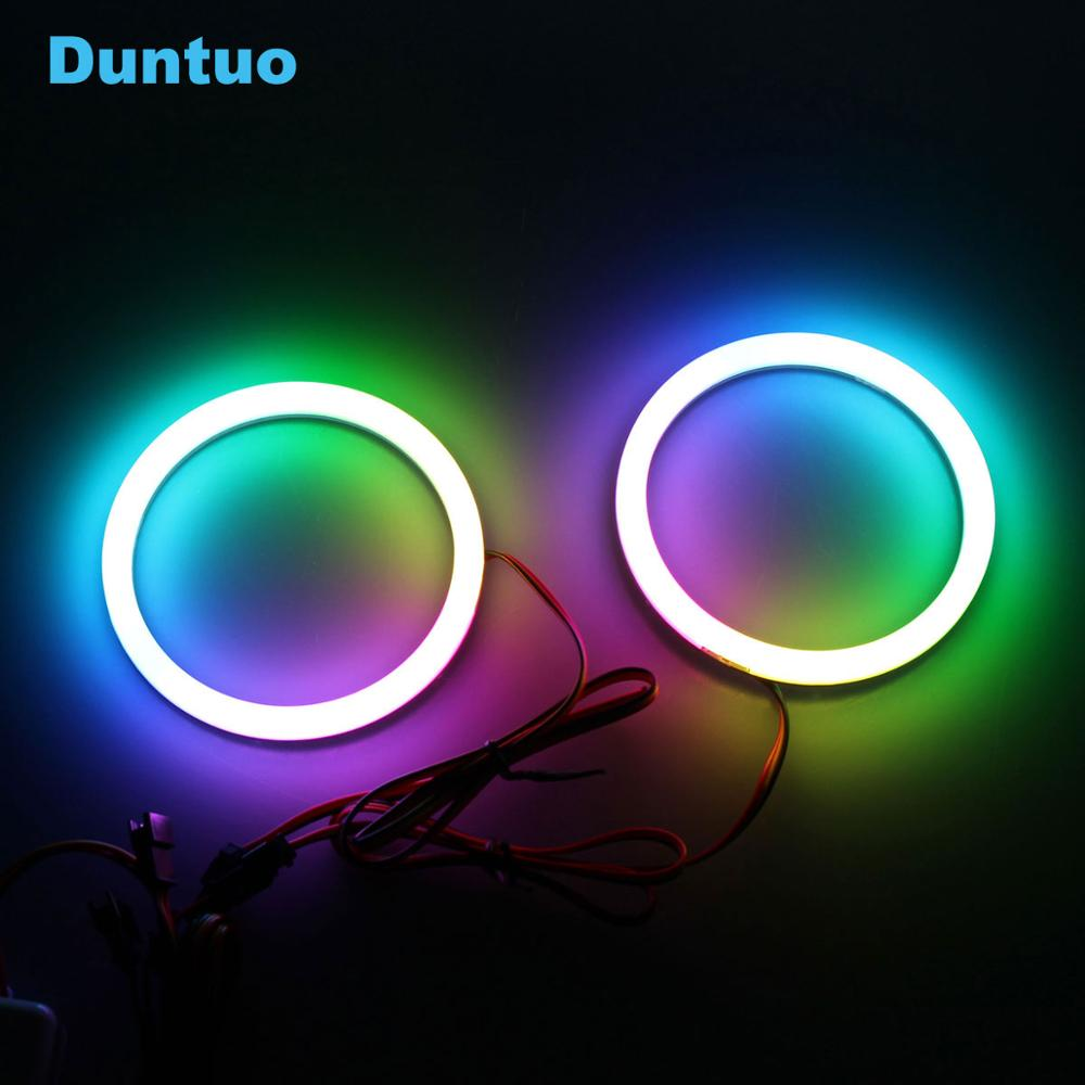 RGBW Angel Eyes Revolving Dynamic Cotton LED Sequential Flowing Bluetooth Wireless Control 80mm 90mm 100mm 106mm 120mm