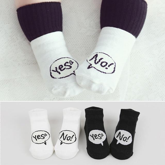 Newborn Nonslip Socks For Baby Boys Girls Floor Socks Black White