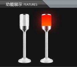 LED Merah dengan Buzzer Alarm Tricolor Light 1 Lapisan Tricolor Batang LED Peringatan Lampu LED Sinyal 24V Tower lampu untuk Mesin CNC
