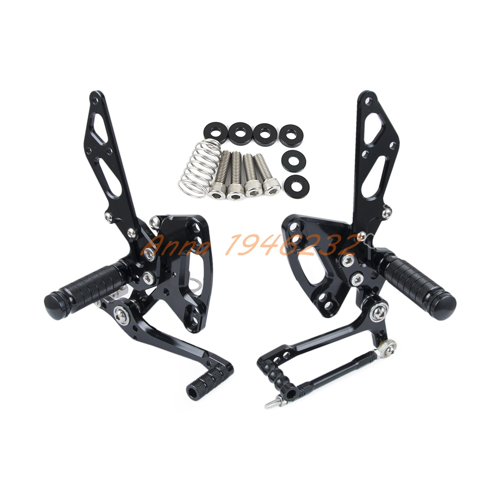 Silver CNC Racing Foot pegs Adjustable Rearset Rear Sets