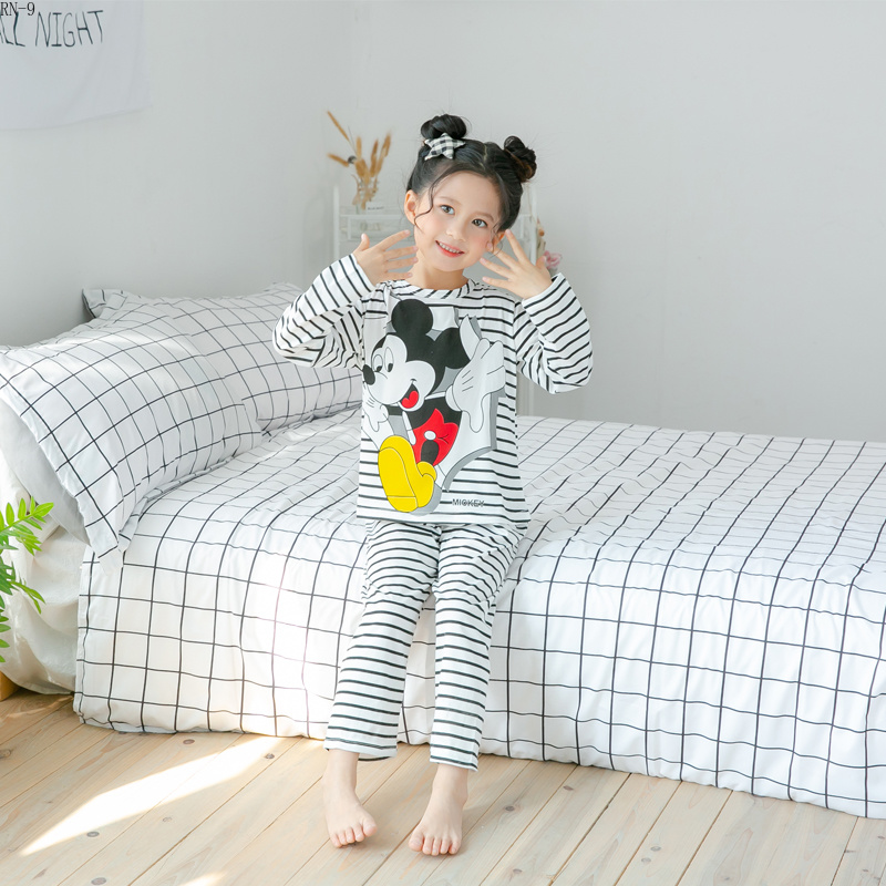 New Listing Wholesale Children Pyjamas Long Sleeve Girls   Pajamas   Suit Cartoon Baby Colthing   Set   Kids   Pajamas   Boys Child Clothes