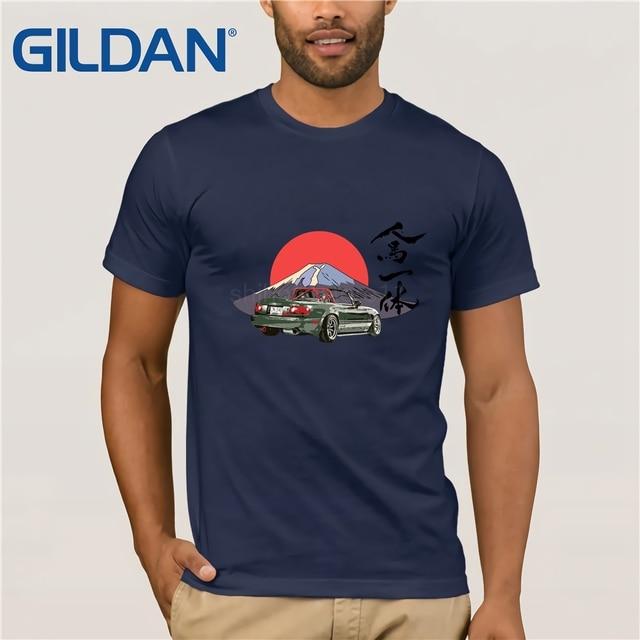 bf32e964c3c 2019 Japanese style Mazda Miata Mx5 T-shirt hombre Jinba Ittai Mount Fuji  edition T shirt homme graphic printed Tshirt camisetas