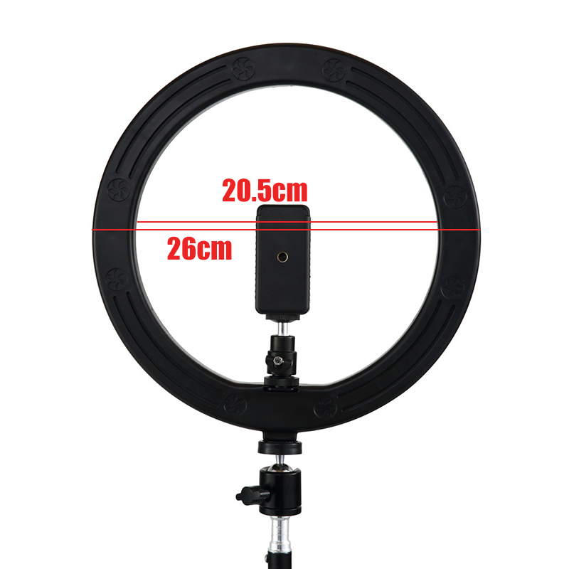 "Image 3 - LED Ring Light 2700K 5500K 12W Photo Studio 10"" Flash Light Photography Dimmable Lights Video for Smartphone with Tripod-in Novelty Lighting from Lights & Lighting"