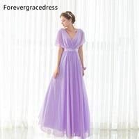 Forevergracedress Elegant Cheap Purple Bridesmaid Dress New Arrival Long Chiffon Wedding Party Gown Plus Size Custom