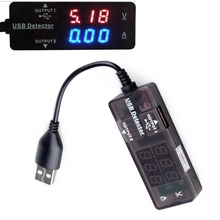 Portable Digital Led USB 2.0 Dual Output Charging Power Voltage Current Multimeter Amp Volt Power Meter Tester Monitor voltmeter