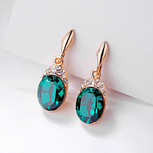 PhoenRing Perfect fashion Oval crystal AAA level Micro CZ zircon show off No ear hole clip earrings For women jewelry
