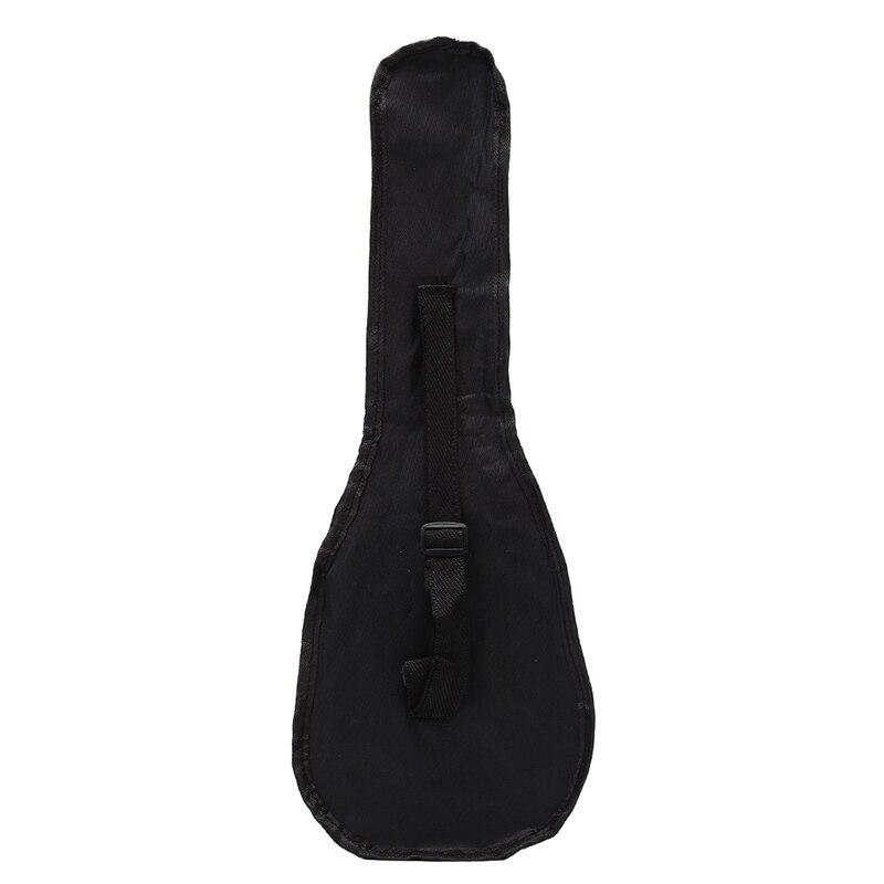 Brave Black Ukulele Bag Soft Case Bag Single Shoulder Backpack Padded 55.5*20cm 21 Inch Fine Craftsmanship