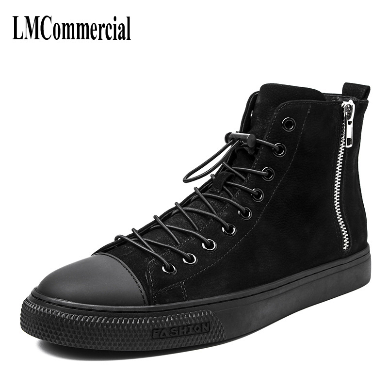 Men's  Boots English class Martin Boots Men's Korean version retro British, European and American high shoes men leather shoes think british english 1 cl aud cds 3