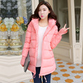 2016 Winter Fashion Pregnant Women High Quality Knitted Hooded Cotton Coat Gravida Solid Cotton Outwear Maternity Down Jacket