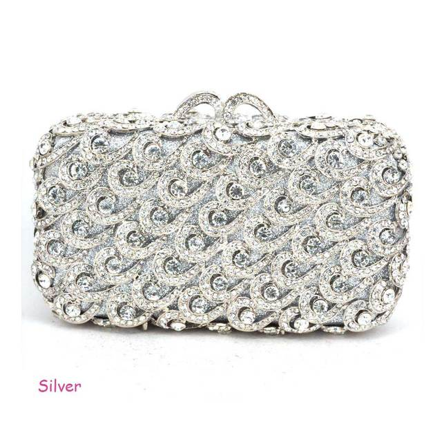 Stylish Luxury Crystal Red Evening Clutches Party Bag Golden Prom Banquet  Pouch for Women Wedding Femme Glitter Clutch Bag 88225 7e8cdbe61e70