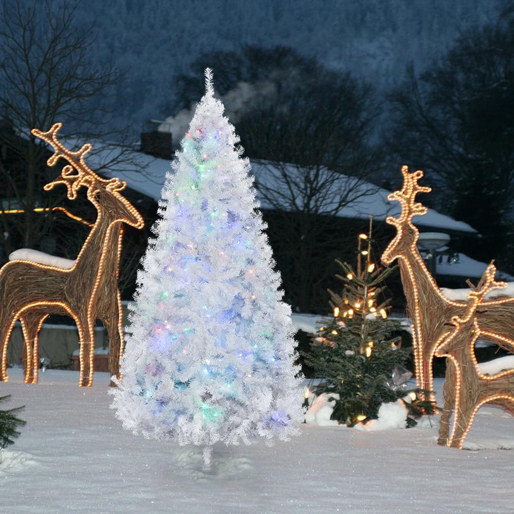 7 5 Fiber Optic Christmas Tree: Aliexpress.com : Buy 7.5FT Iron Leg Fiber Optic White