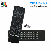 Original Backlit MX3 Air Mouse IR Learning 2.4G Wireless Gaming Mini Keyboard Air Mouse for Smart TV/Android Box/IPTV