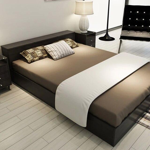 Simple modern Japanese style tatami bed bed storage box Korea ...