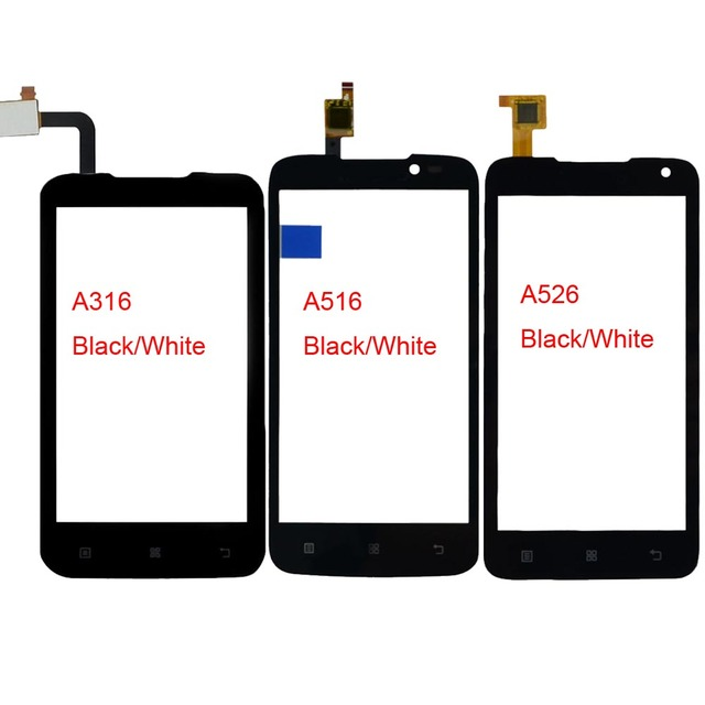 מסך מגע טלפון נייד עבור A516 Lenovo A316 A316i A526 חיישן פנל מסך מגע Digitizer מסך מגע חזית זכוכית דבק