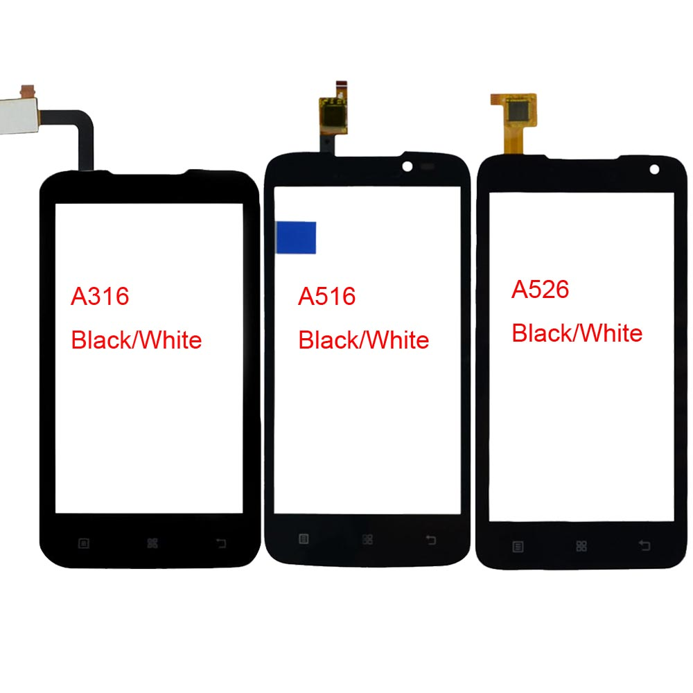 Mobile Phone Touch Screen For Lenovo A316 A316i A516 A526 Touch Front Glass Screen TouchScreen Digitizer Panel Sensor Adhesive-in Mobile Phone Touch Panel from Cellphones & Telecommunications