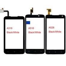 Telefono cellulare Touch Screen Per Lenovo A316 A316i A516 A526 Touch Anteriore Dello Schermo di Vetro TouchScreen Digitalizzatore Sensore Pannello Adesivo